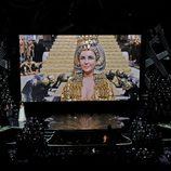 Elizabeth Taylor durante el In Memoriam de los Oscar 2012