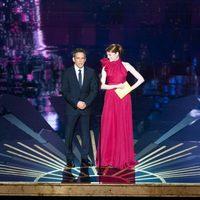 Ben Stiller y Emma Stone en la gala de los Oscar 2012