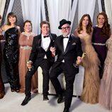 Los ganadores del oscar 2012 al mejor corto animado con las actrices de 'La boda de mi mejor amiga'