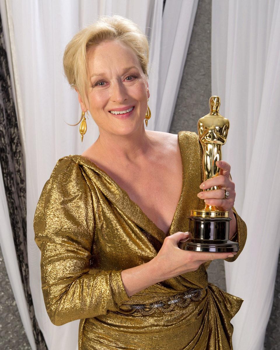 Meryl Streep, ganadora del Oscar a la mejor actriz por 'The Iron Lady'