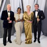 Christopher Plummer, Octavia Spencer, Meryl Streep y Jean Dujardin, mejores actores de los Oscar 2012