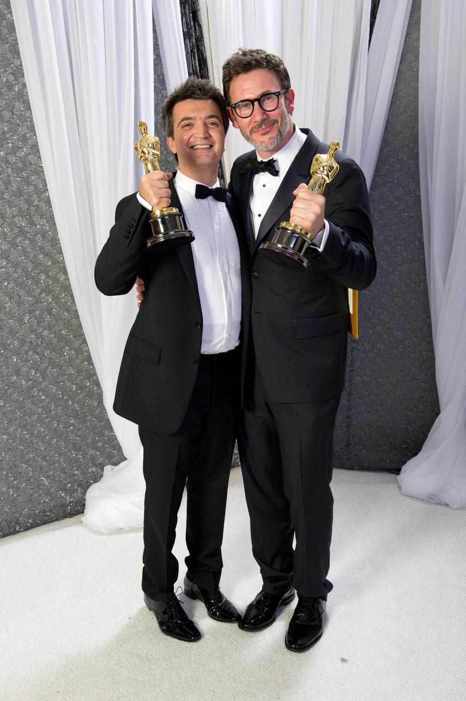Thomas Langmann, productor de 'The artist', con Miche Hazanavicius, director de la cinta