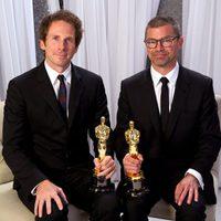 Kirk Baxter y Angus Wall, ganadores de Oscar 2012 al mejor montaje por 'Los hombres que no amaban a las mujeres'