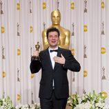 Ludovic Bource, ganador del Oscar 2012 a la mejor banda sonora por 'The artist', posa ante los medios