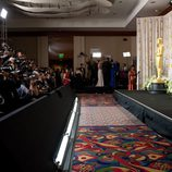 Thomas Langmann, ganador del Oscar 2012 a la mejor película, posa ante los medios