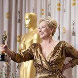 Meryl Streep presume ante los medios del Oscar 2012 a la mejor actriz