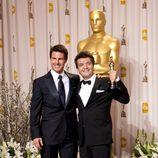 Tom Cruise y Thomas Langmann, ganador del Oscar 2012 a la mejor película