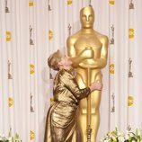 Meryl Streep, feliz ante los medios tras ganar el Oscar a la mejor actriz