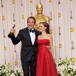 Jean Dujardin, ganador del Oscar 2012 al mejor actor por 'The artist', junto a Natalie Portman