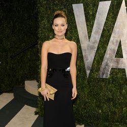 Olivia Wilde en la fiesta de Vanity Fair tras los Oscar 2012
