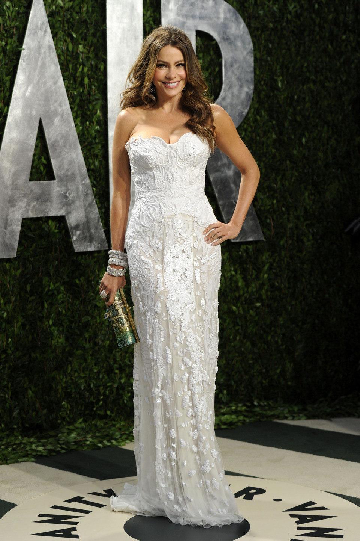 Sofia Vergara en la fiesta de Vanity Fair tras los Oscar 2012