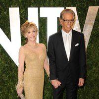 Jane Fonda y su marido en la fiesta de Vanity Fair tras los Oscar 2012