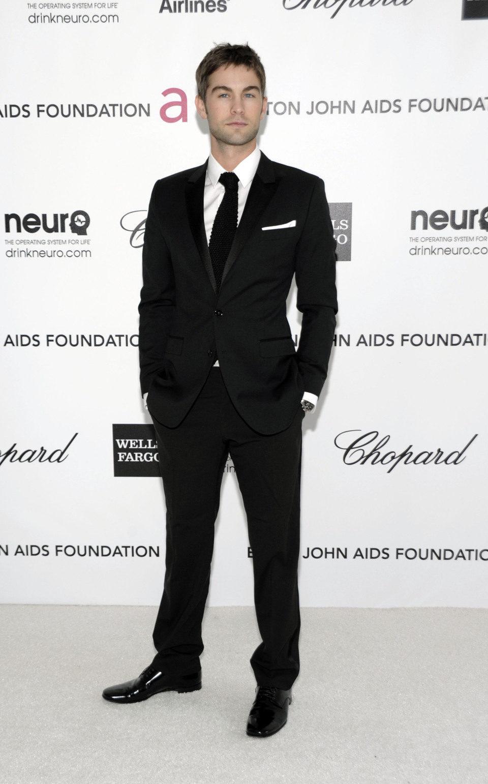 Chace Crawford en la fiesta de Elton John tras los Oscar 2012