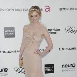Lydia Hearst en la fiesta de Elton John tras los Oscar 2012