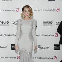 Miley Cyrus en la fiesta de Elton John tras los Oscar 2012