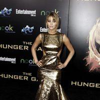 Jennifer Lawrence en la premiére mundial de 'Los Juegos del Hambre'