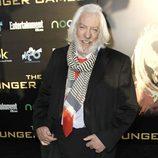 Donald Sutherland en la premiére mundial de 'Los Juegos del Hambre'