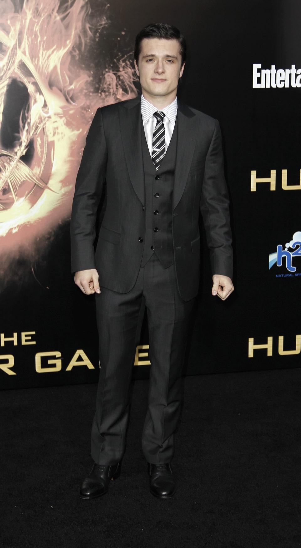 Josh Hutcherson en la premiére mundial de 'Los Juegos del hambre'