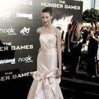 Kalia Prescott en la premiére mundial de 'Los Juegos del Hambre'