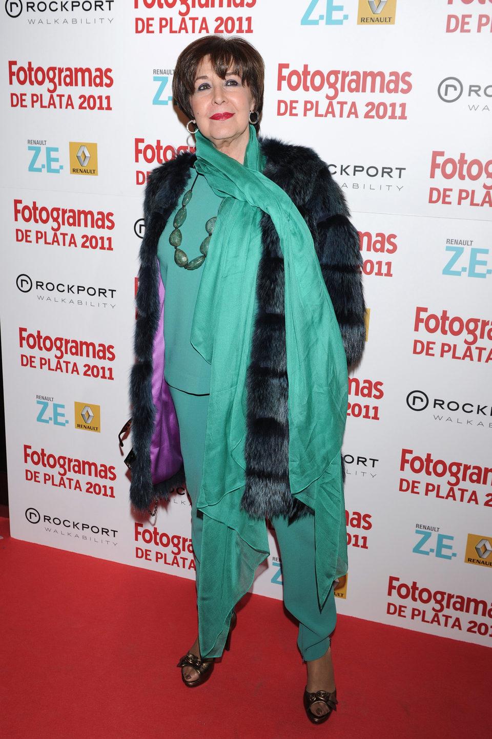 Concha Velasco en los Fotogramas de Plata 2011