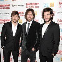Adrián Lastra, Daniel Sánchez Arévalo y Quim Gutiérrez en los Fotogramas de Plata 2011