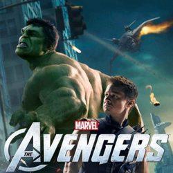 Hulk y Ojo de Halcón en un póster de 'Los Vengadores'