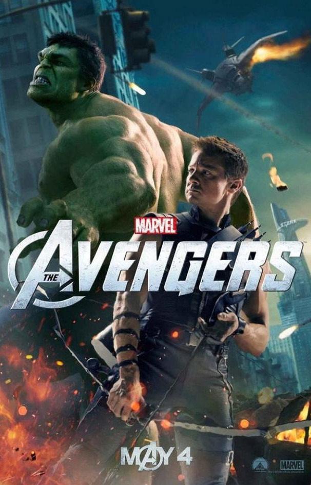 Hulk y Ojo de Halcón en un póster de \'Los Vengadores\', Tamaño ...