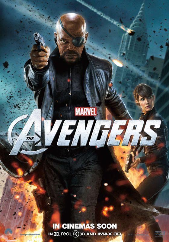 Nick Furia y Maria Hill en un póster de 'Los Vengadores'