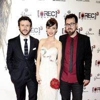 Diego Martín, Leticia Dolera y Paco Plaza en el estreno de '[REC] 3: Génesis' en Madrid