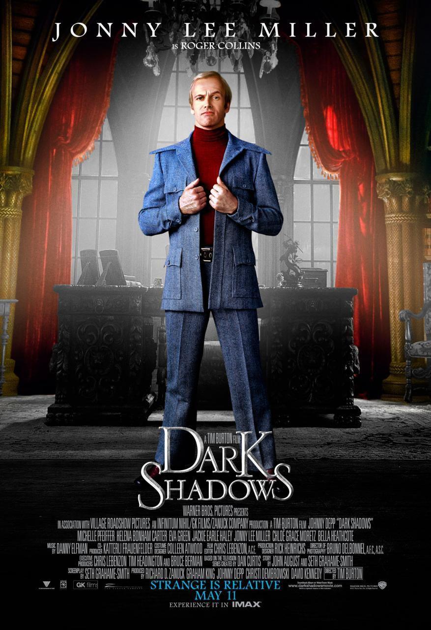 Jonny Lee Miller como Roger Collins en 'Sombras tenebrosas'