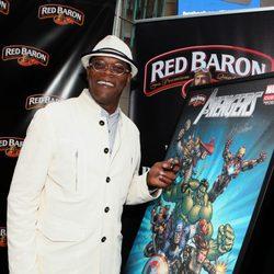 Samuel L. Jackson en la premiére mundial de 'Los Vengadores'