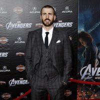 Chris Evans en la premiére mundial de 'Los Vengadores'