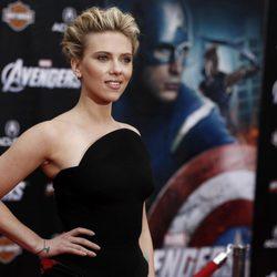 Scarlett Johansson en el estreno mundial de 'Los Vengadores'