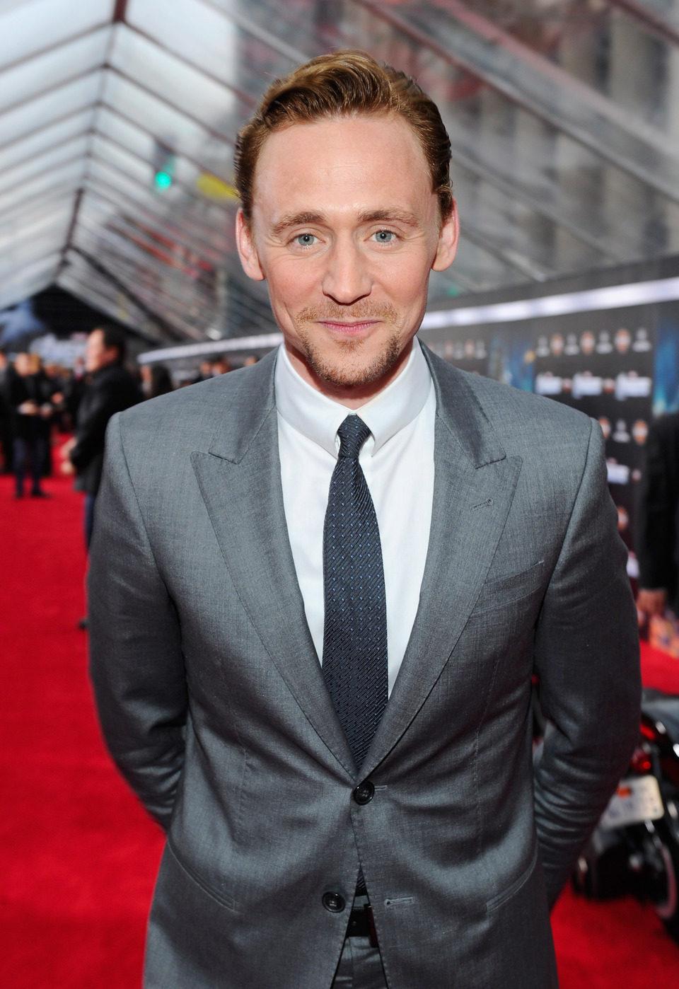 Tom Hiddleston en el estreno mundial de 'Los Vengadores'