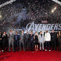 El equipo de 'Los Vengadores' en su estreno mundial