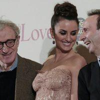 Woody Allen, Penélope Cruz y Roberto Benigni en la premiére de 'To Rome with Love' en Italia