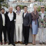 Wes Anderson y los protagonistas de 'Moonrise Kingdom' en el Festival de Cannes 2012