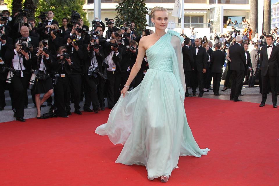 Diane Kruger en la inauguración del Festival de Cannes 2012