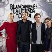 Charlize Theron, Rupert Sanders, Sam Claflin y Kristen Stewart en la presentación de 'Blancanieves y la leyenda del cazador' en Madrid