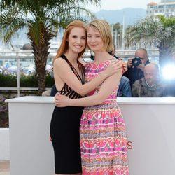 Jessica Chastain y Mia Wasikowska en el Festival de Cannes 2012