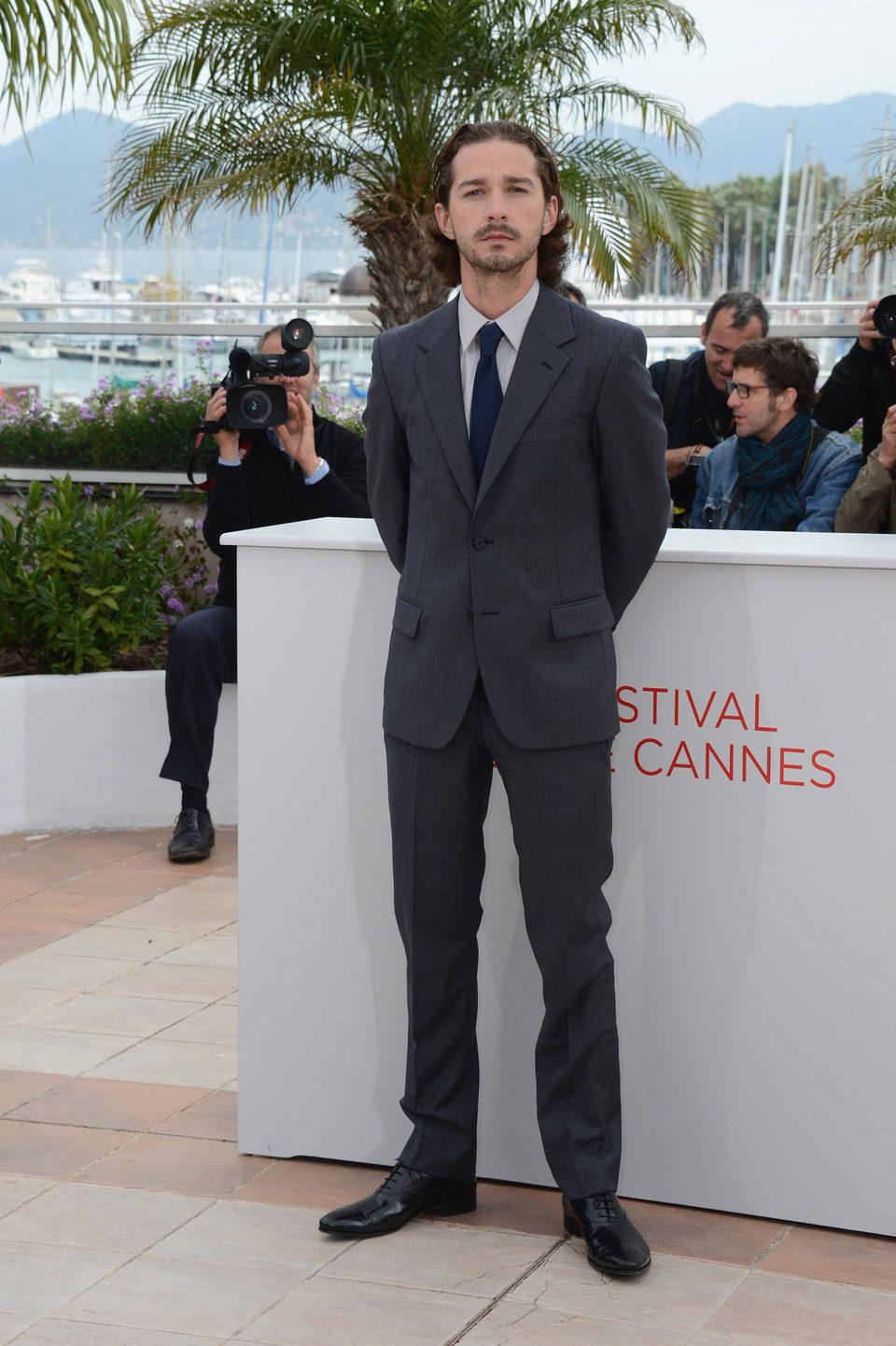 Shia LaBeouf en el Festival de Cannes 2012