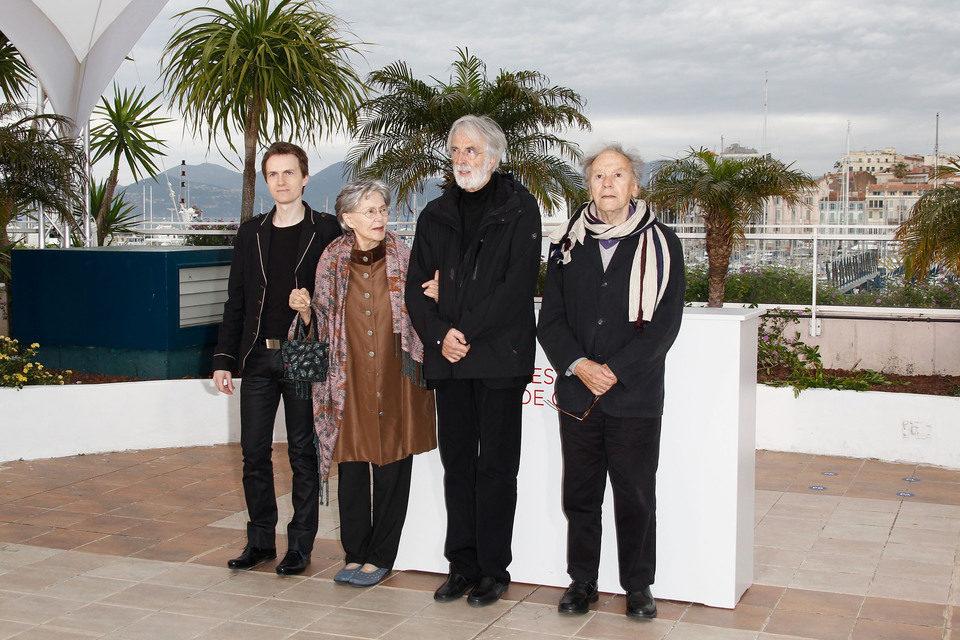 El equipo de 'Amour' en el Festival de Cannes 2012