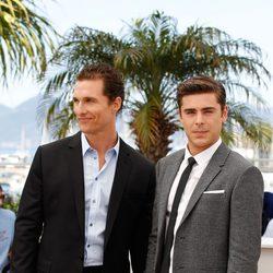 Matthew McConaughey y Zac Efron en el Festival de Cannes 2012