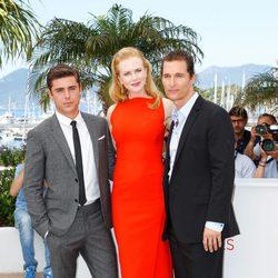 Zac Efron, Nicole Kidman y Matthew McConaughey en el Festival de Cannes 2012
