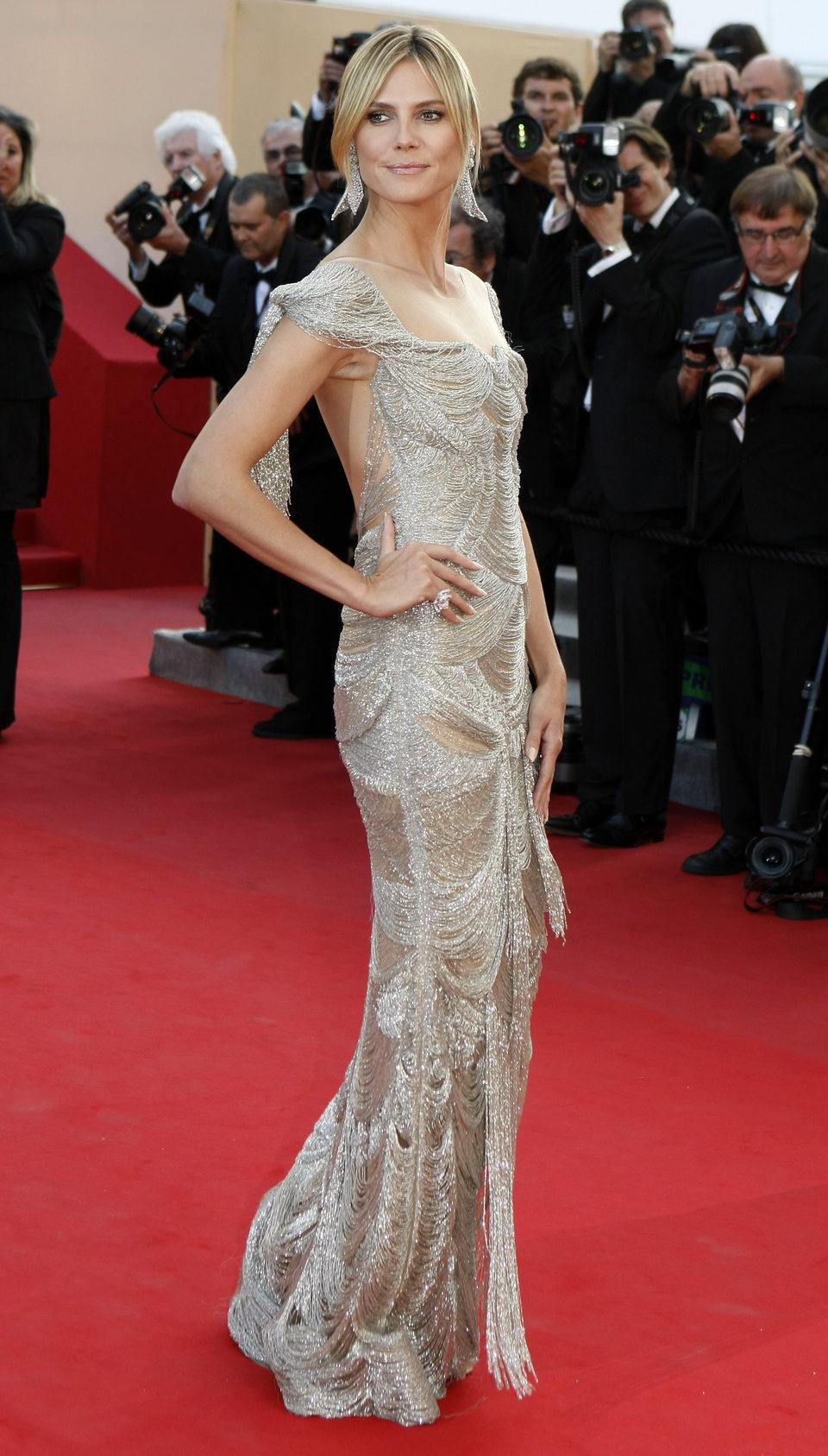 Heidi Klum en el Festival de Cannes 2012