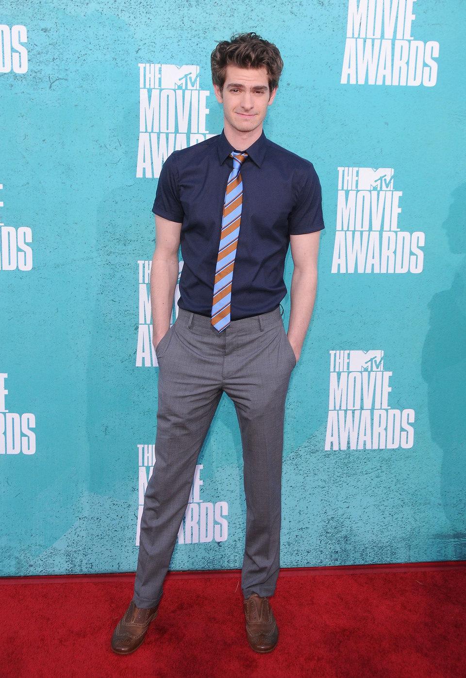 Andrew Garfield en la alfombra roja de los MTV Movie Awards 2012