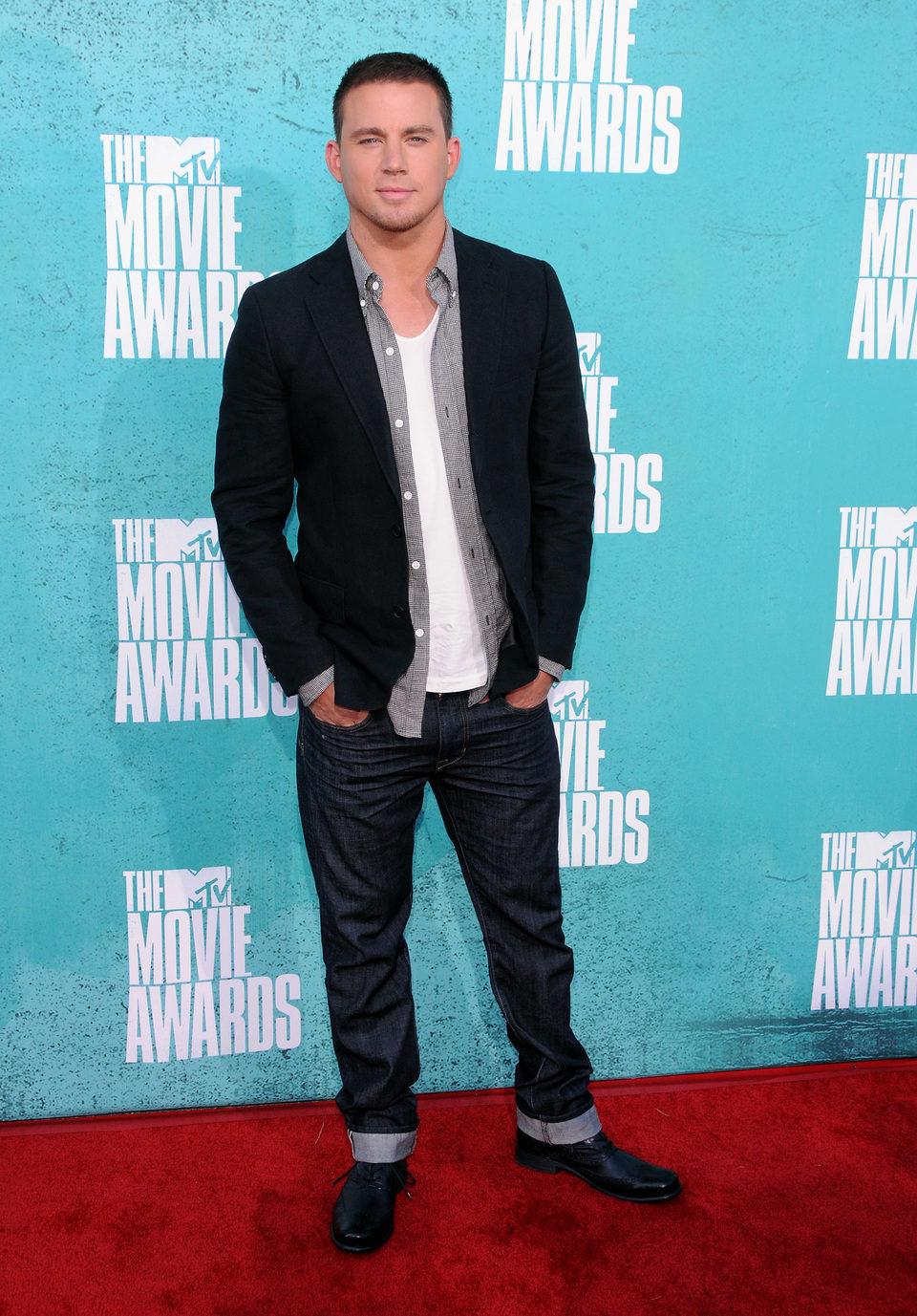 Channing Tatum en la alfombra roja de los MTV Movie Awards 2012