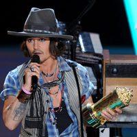 Johnny Depp, premiado en los MTV Movie Awards 2012