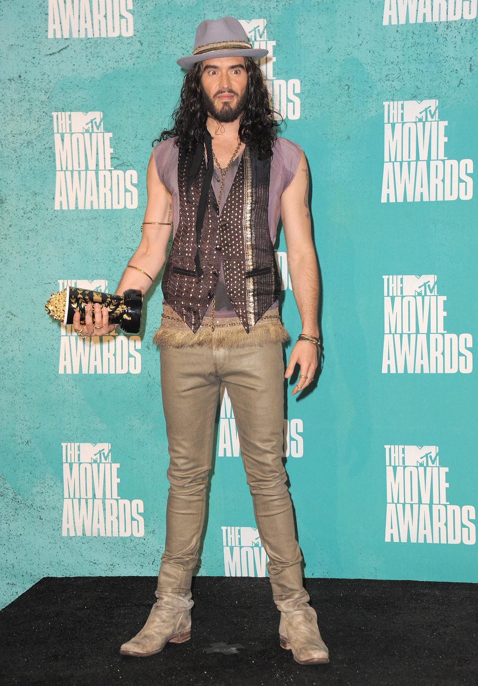 Russell Brand, presentador de los MTV Movie Awards 2012