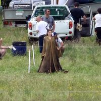 Angelina Jolie en el rodaje de 'Maleficent'